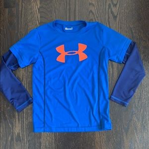 Boys under armour long sleeve shirt